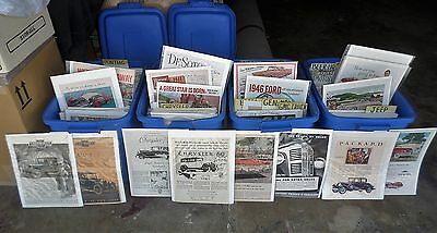Vintage Magazine Car Ads: Over 2100 Individual Bag/Boarded for Your Sale Profits