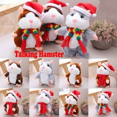 Cheeky Hamster Talking Pet Soft Toy Cute Sound Christmas Kid Gift US RR