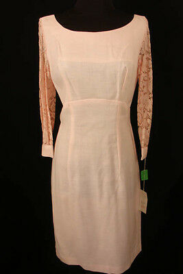 Vintage 1960's Deadstock New Old Pink 2 Pc Rayon Dress