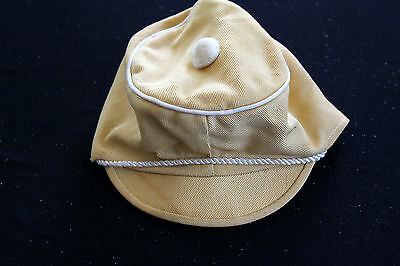 Vintage 591mS Giallo Cotone Deadstock CHILD'S Cappello Taglia 14