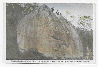 1910 MADISON N. H. Madison Boulder Largest In North America Post Card #3951