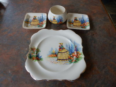 Antique Lancaster & Sandland Crimpiline Lady Lot of 4 Pieces