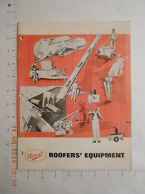 1971 Aeroil Roofer's Equipment roofing catalog SOuth Hackensack New Jersey NJ