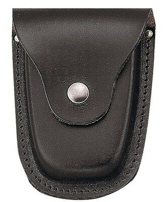 Black Deluxe Leather Handcuff Case Pouch Rothco 10081
