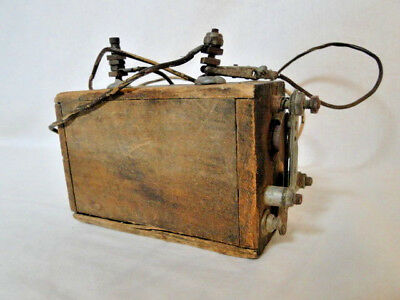 Vintage/Antique Spark Gap Transformer Wood Case