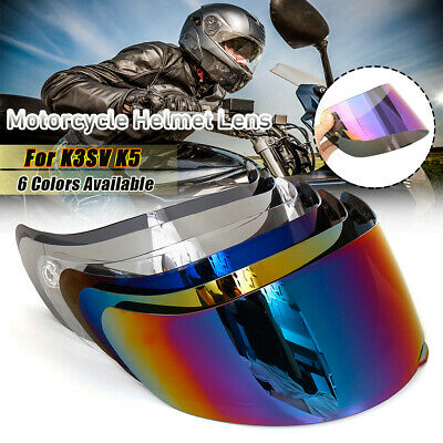 Full Face Detachable Motorcycle Helmet Lens Shield Visor Anti-UV Fit AGV K3SV K5