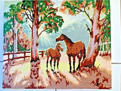 Tapestry Completed  Early Morning By David Spencer-Couper Horses