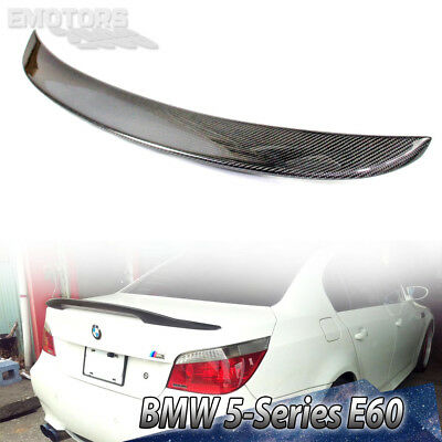 Carbon For BMW 5-Series E60 4D Saloon High Kick P Type Trunk Boot Spoiler 04-10