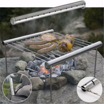 BBQ Barbecue Grill Folding Portable Stainless Steel Picnic Camping Outdoor LC