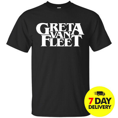 Greta Van Fleet T-shirt Black Cotton All Size
