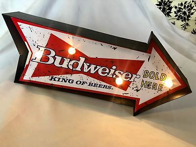 Rocket Budweiser Beer Bar Pub NEON LED Lamp Room Display LIGHT Arrow Sign