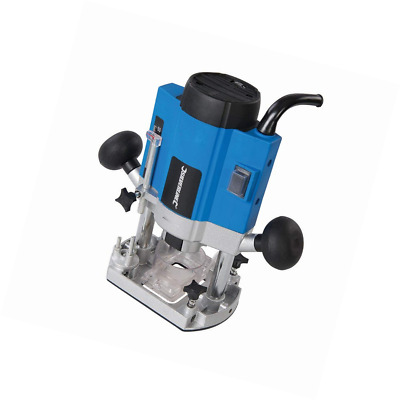 """Silverline 1020W Plunge Router 1/4"""" Variable Speed Control 40mm Plunge Depth"""