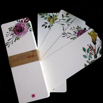 40pcs/set Floral Paper Bookmark Book Gift School Office Home Kid Prize Gifts BS