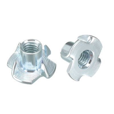 100Pcs M6 4 Pronged Tee Nut T-Nut For Rock Climbing Holds Wood Cabinetry