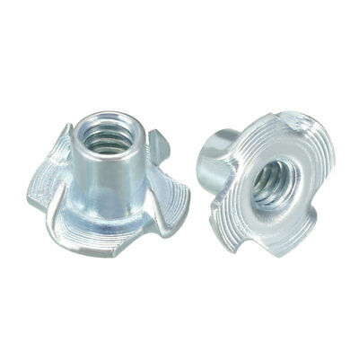 """20Pcs 1/4""""-20 4 Pronged Tee Nut T-Nut For Rock Climbing Holds Wood Cabinetry"""