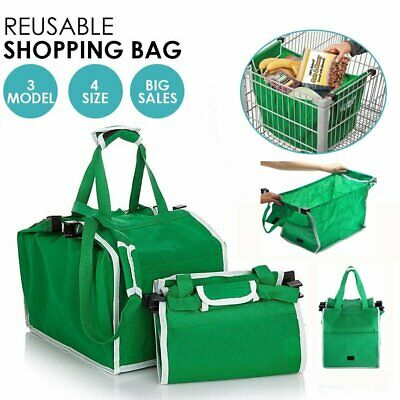 1/3/5 Foldable Shopping Bags Reusable Eco Grocery Cart Trolley Carrier Handle AU