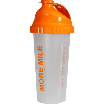 More Mile 650ml Protein Shaker Bottle Drinks Mixer Exercise Gym Training Workout