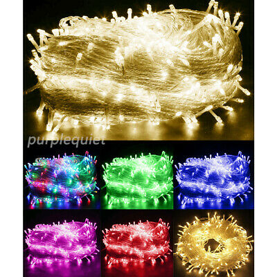 Outdoor Fairy String Lights 100-1000LED Waterproof Warm White Christmas Plug In