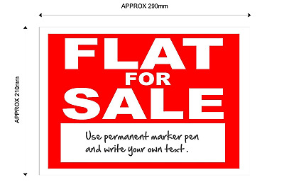 Flat For Sale Sign - with space for your own text.