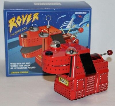 Blech Tin Rover The sparking Space Dog Roboter Hund mit Funkenwurf