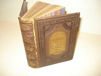 c 1874 THE LADY OF THE LAKE Sir Walter Scott Art Illustrated ANTIQUE Poetry Book