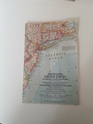 Map of Northeastern United States Including the  Great Lakes Region  April 1959