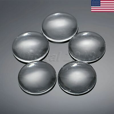 Transparent Clear Round Glass Dome Flatback Cabochon Scrapbooking 30mm US STOCK