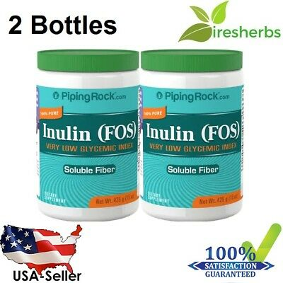 2 X Inulin Prebiotic Fos Powder Digestive Intestinal Support Soluble Fiber 30 Oz