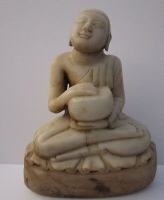 Antique Buddhist Stone Carving Sculpture Icon Hindu Temple Idol Large Statue