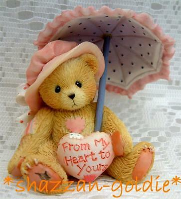 Cherished Teddies Victoria with Parasol and Heart. From My Heart New In Box
