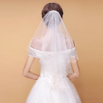 Wholesale White Wedding Party Pearls Bridal Veil With Comb Headwear Accessories