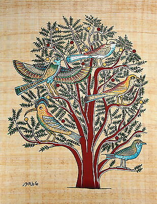 "Egyptian Papyrus - Hand Made - 9"" x 13"" - Ancient Art - Acacia Tree Of Life"