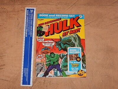 1974 The Incredible Hulk Book And Record Set Pr-11, Power Records, Nos, Sealed