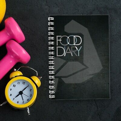 Food Diary Slimming World Compatible | Diet Planner Weight Loss Journal | Black