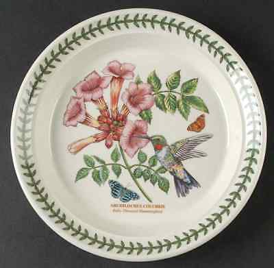 Portmeirion BOTANIC GARDEN BIRDS Ruby Throated Hummingbird Salad Plate 10002925