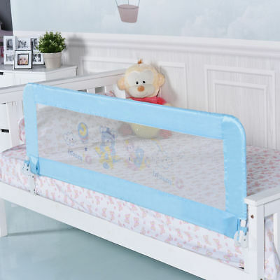 """Universal 59"""" Baby Infant Breathable Toddler Bed Rail Safety Guard Swing Down"""