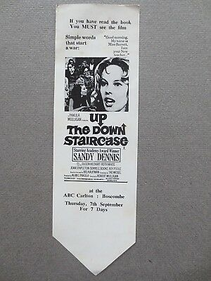 Advertising BOOKMARK FILM Promo 1967 Up the Down Staircase ABC Carlton BOSCOMBE