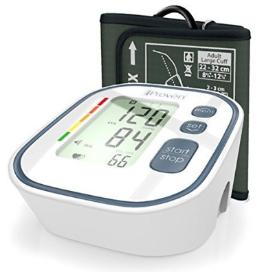 Blood Pressure Digital Upper Arm LCD Monitor Adult Large Cuff Tester Portable