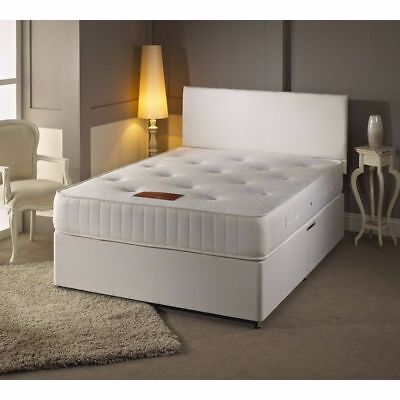 MEMORY FOAM DIVAN BED SET WITH FREE MATTRESS HEADBOARD 3FT 4FT6 Double 5FT