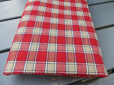 """Unused  Cottage Checked Duvet Cover Plaid Fabric Single Bed Twin  49 """" by 70"""""""