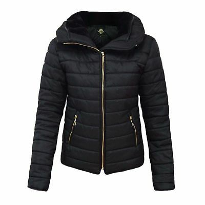Girls Kids Padded Hooded Quilted Thick Warm Bubble Jacket Parka Coat Age 7- 13