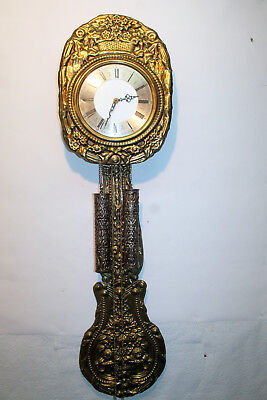 Old Wall Clock Chime Clock Comtoise *** in brass