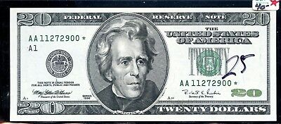 Astounding 1996 United States Federal Reserve $20 Star Note AE673
