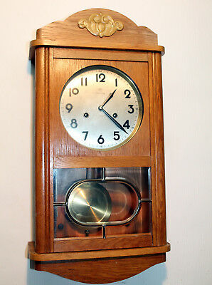 Antique Wall Clock Chime Clock  Regulator 1920th century *JUNGHANS*