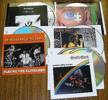 Gentle Giant  1974 1975 1976 1977  5 titles Press 8xCD Highland F/S