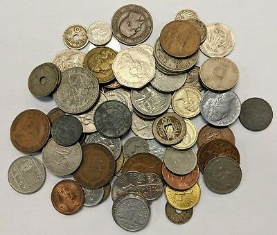 One Pound 1lb of BETTER Mixed Foreign Coins, Exact Coins Pictured