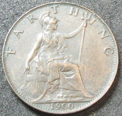 1900 Great Britain Farthing Coin