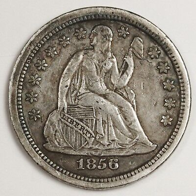 1856 Liberty Seated Dime.  Natural Uncleaned.  X.F.  131378