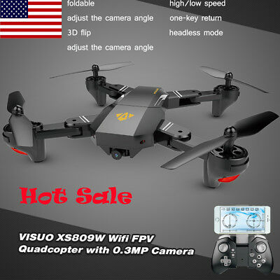 VISUO XS809W RC Quadcopter Wifi 0.3MP Camera Foldable 2.4G 6-Axis Drone P2N5