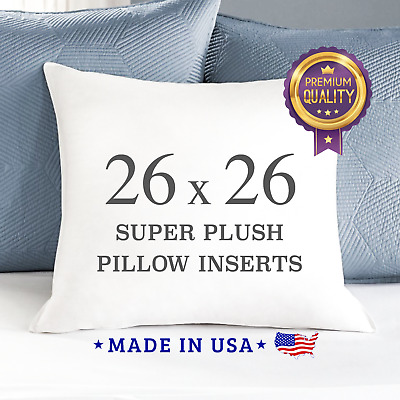 26X26 PILLOW INSERTS Stuffing Down Alternative Square Pillows Made In USA Euro